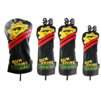 NRC Golf Driver Headcover Club Covers PU  Sunshine For #1 Driver #3 #5 Fairway Woods Hybrid Clubs Headcovers