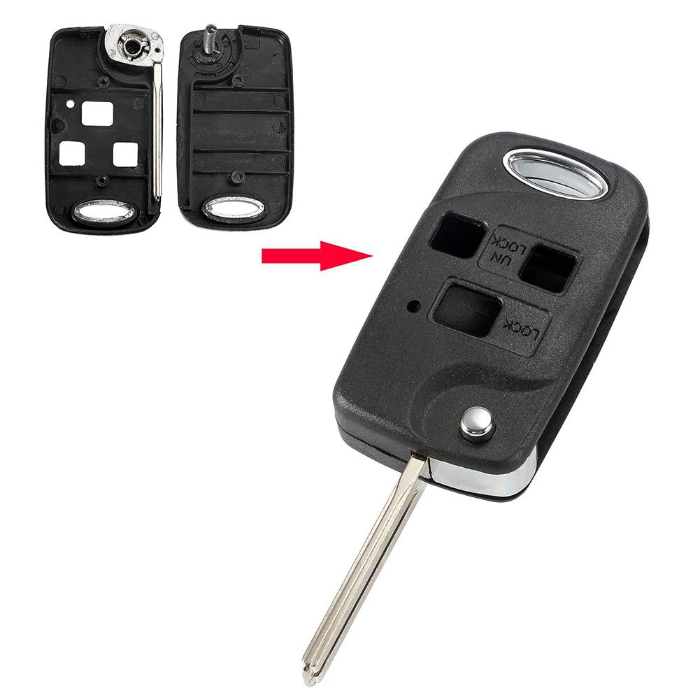 Replacement Flip Folding Remote <font><b>Key</b></font> <font><b>Case</b></font> Shell for <font><b>Lexus</b></font> <font><b>RX300</b></font> GS300 IS200 LS400 image
