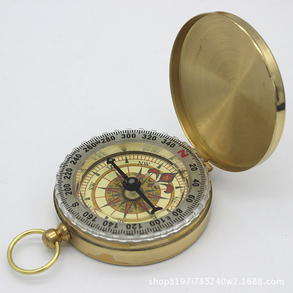 Pratical Mountaineering Outdoor Tourism Upscale Retro Flip Compass Watch Luminous Guiding Compass Dark Navigation Car Compass