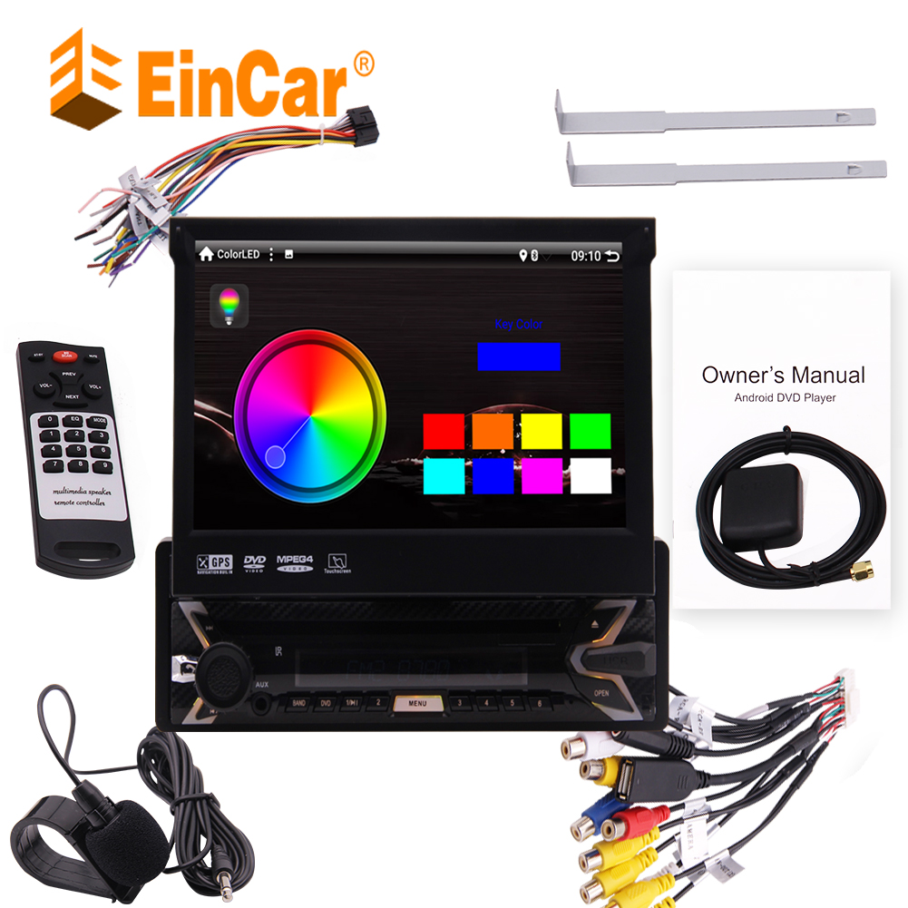 Android 9.0 Single 1 Din <font><b>Car</b></font> Stereo GPS Navigation <font><b>Car</b></font> DVD Player 7