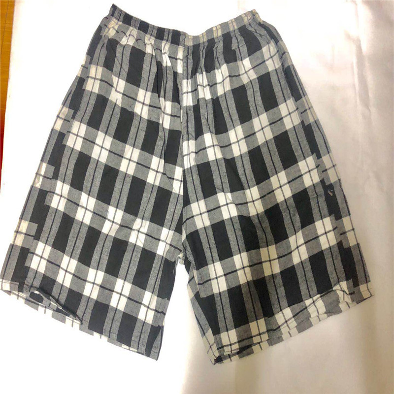Large Size Beach Shorts Cotton Plaid Extra-large Lengthen Casual Sports Six Points Pants Length 56 Cm Hot Sales Booth Goods