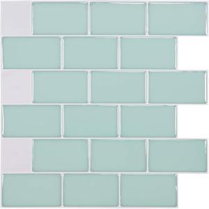 Image 5 - Kitchen Backsplash Tiles Peel and Stick White Brick Subway for Kitchen, Bathroom 10 Pieces 12x12