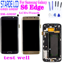 OLED LCD For Samsung Galaxy S6 Edge LCD G925 G925F SM-G925F Display Touch Screen Digitizer Assembly with Frame For SAMSUNG S6 Ed стоимость