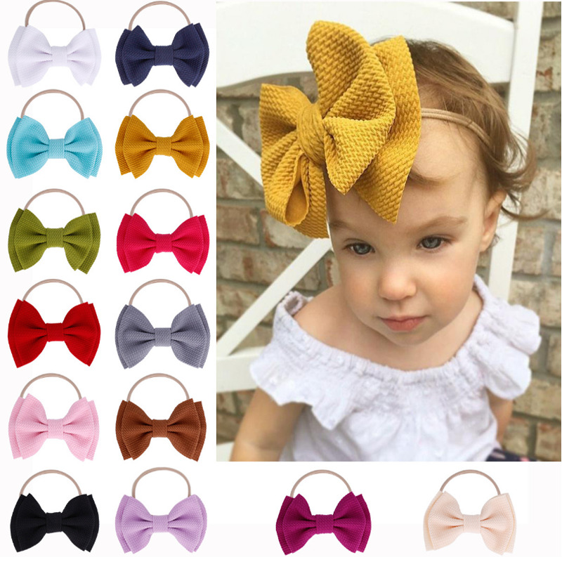 1 PC Infant Baby Girl Cute Bow Headband Newborn Headwear Headdress Hair Band