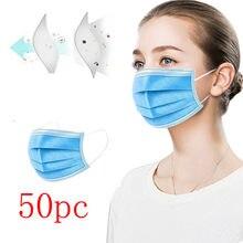 50 pces envio para os eua mascarilla mascaras cara boca protetor facial para uso diario y trabajo