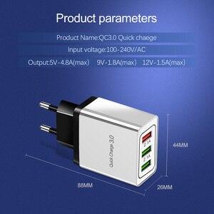 Image 2 - 5V 3A USB מטען תשלום מהיר 3.0 QC 3.0 מהיר טעינת מתאם 3 USB נייד טלפון מטען עבור iphone XR XS מקסימום X 7 8 מטענים