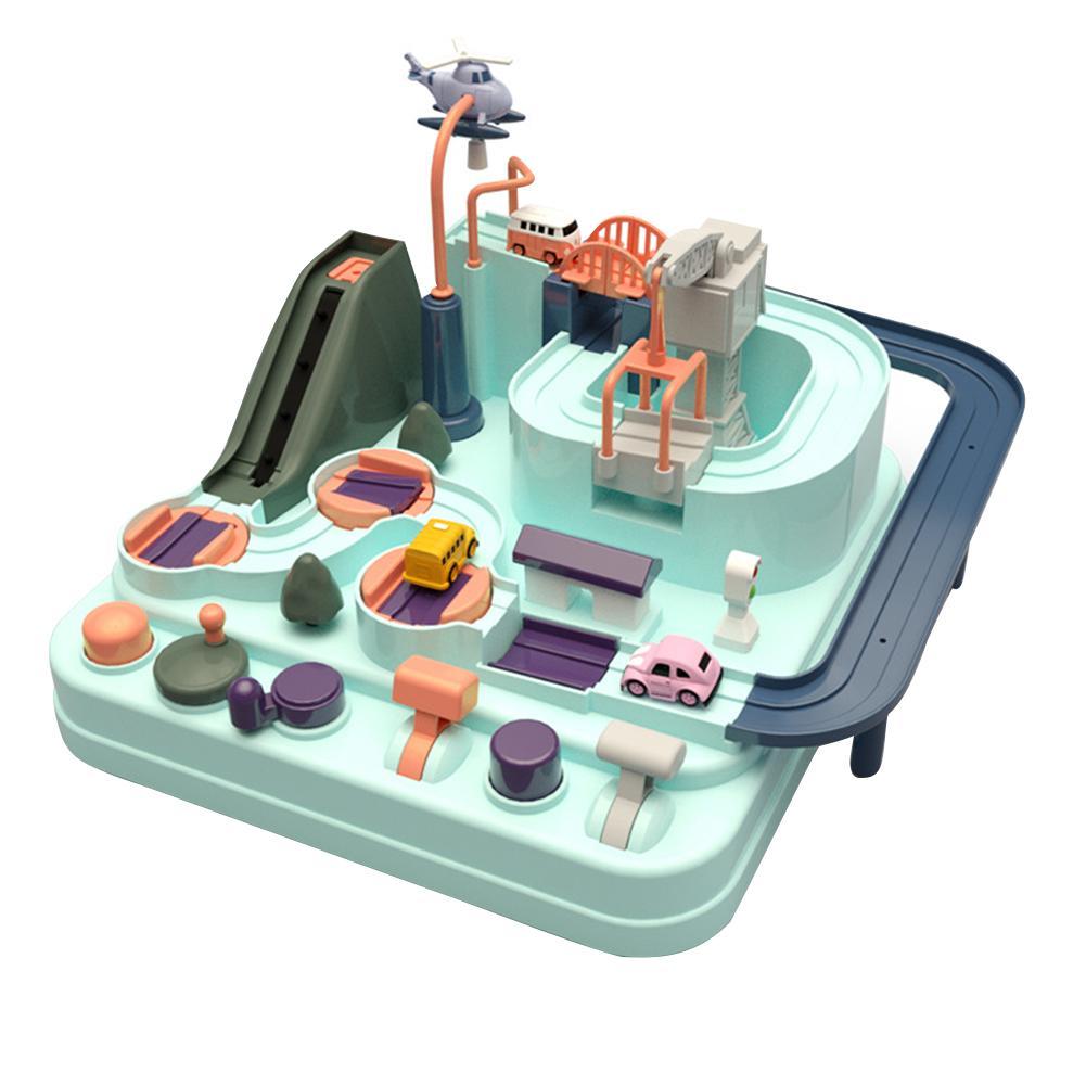 Bebek araba parça macera oyunu manuel demiryolu oyuncak trenler çocuklar için eğitim oyuncak Macaron renk masa oyunu bulmacalar doğum günü hediyeleri