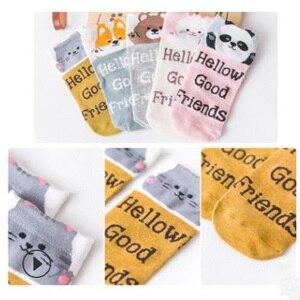 Image 5 - 20 Chiếc = 10 Đôi Tất Hoạt Hình Vớ Nữ Cotton Vô Hình Vớ Hình Thú Dễ Thương Stereo Tai Cô Gái Vớ Mắt Cá Chân Bông Tai Kẹp Thoáng Khí tất