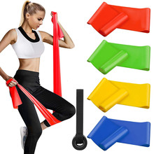 Bandas de resistencia al estiramiento entrenamiento Yoga Bandas elásticas Fitness deporte 100% Látex Natural alargamiento engrosamiento 2M