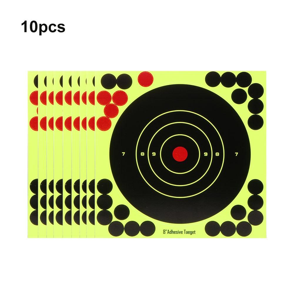 10Pcs Splash Flower Target Adhesive Reactivity Shoot Target Aim Stickers Shoot Target Adhesive Reactivity Aim Accessories
