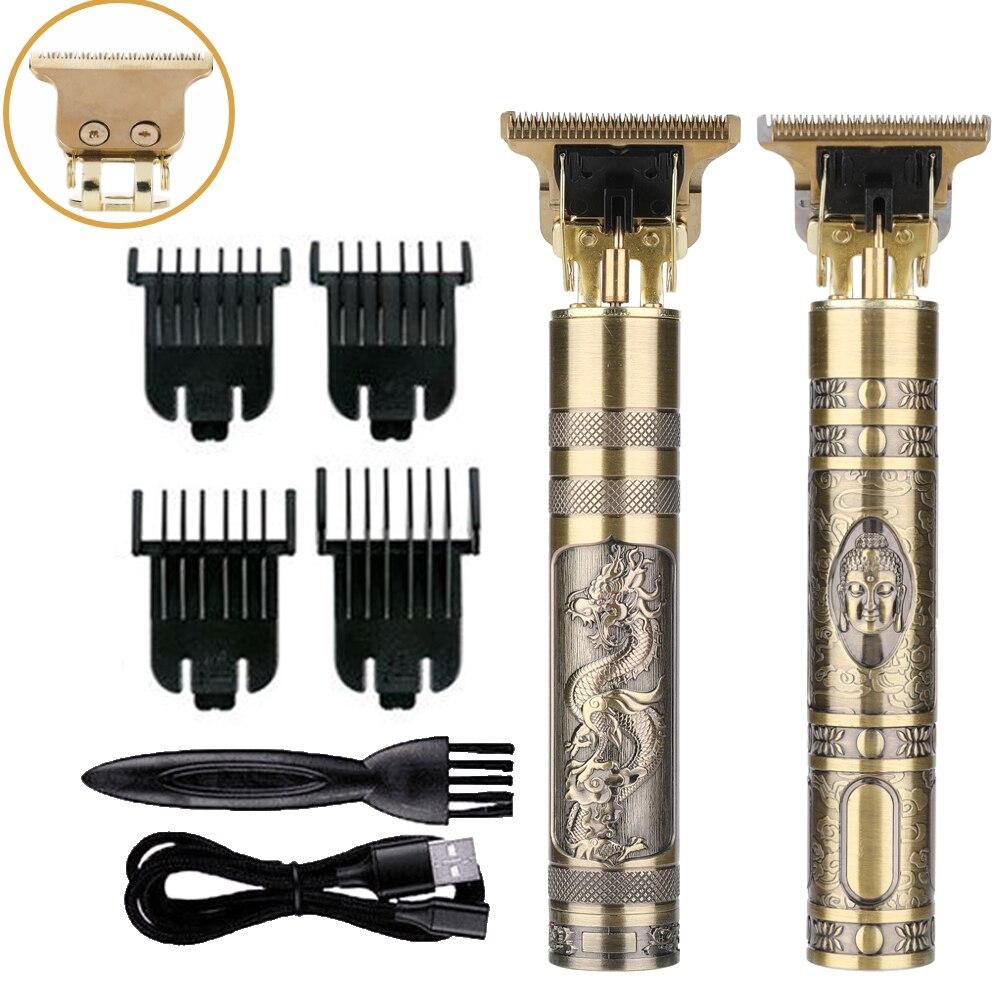 Профессиональный триммер для волос для мужчин, Аккумуляторная Беспроводная Машинка для стрижки волос, электрическая бритва с болдугой, Пар...