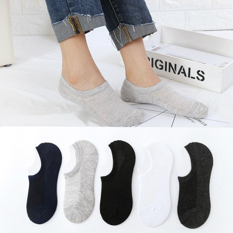 1/3Pair Men Cotton Socks No Show Socks Non Slip Men Invisible Boat Socks Slippers Spring Summer Omfortable Low Cut Short Sock