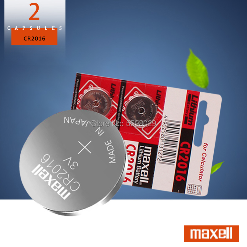 2pcs original brand new battery For maxell cr2016 3v button cell coin batteries for watch computer cr 2016 For Control Toy image
