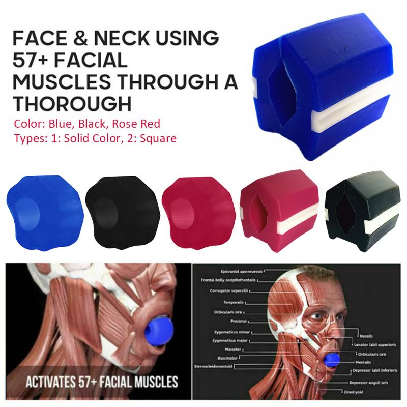 Face Lift Neck Muscle Chew Bite Compact Jaw Exerciser Chin Slimming Facial Care Fat Reducer Fitness Ball Jawline Shaper Home
