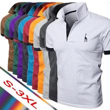 2019 di Es2019 Summer Men's Polo Multi-Color Deer Polo Shirt Men's Short Sleeve
