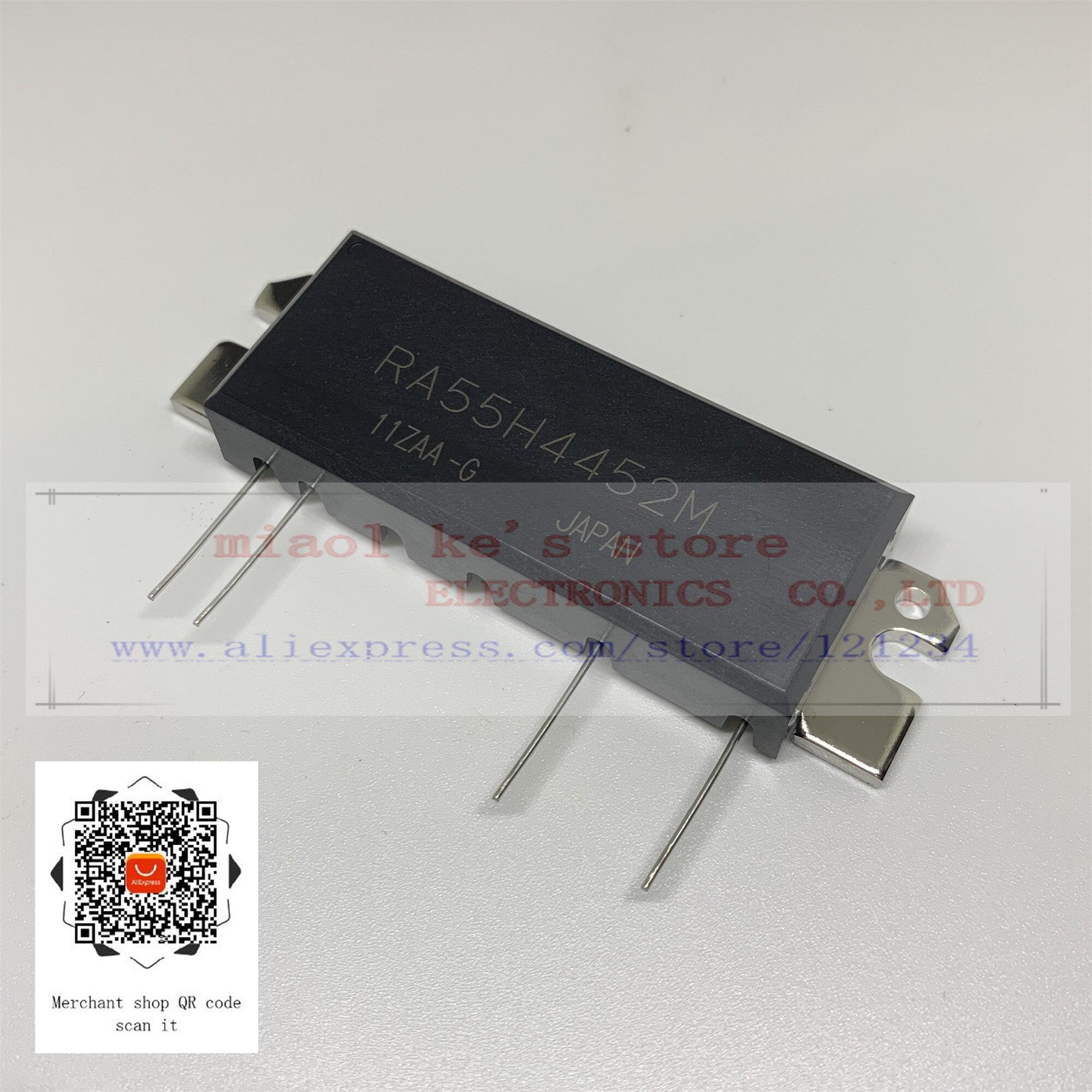 100% nouveau original RA55H4452M RA55H4452M-101-MODULE MOSFET RF 440-520MHz 55W 12.5 V, ampli à 3 étages. Pour RADIO MOBILE