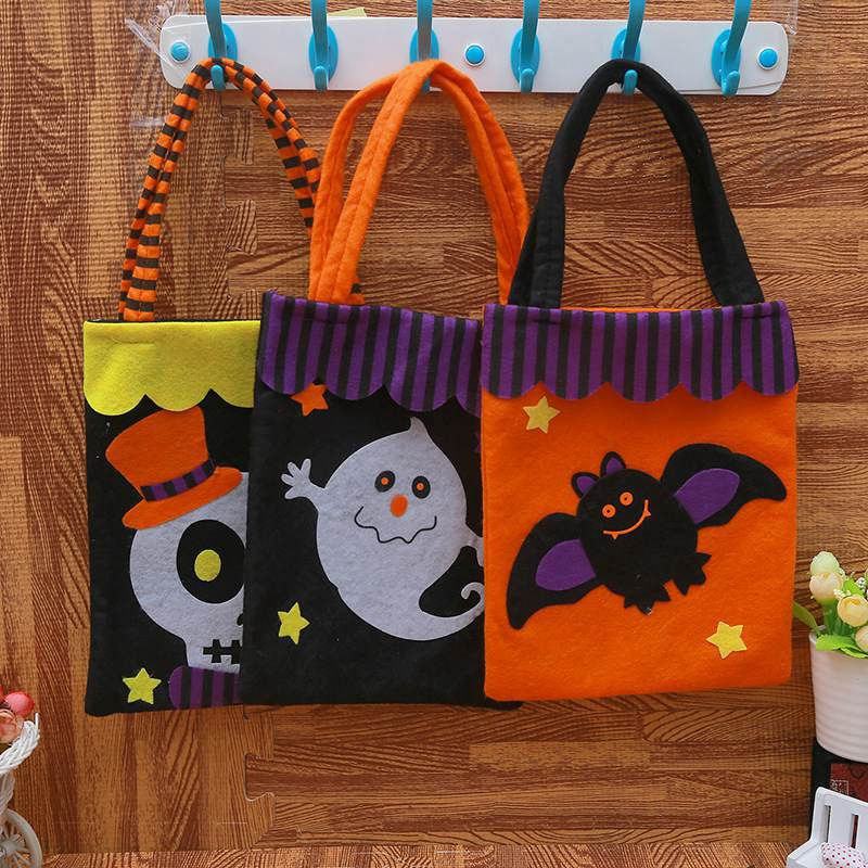 Travel-Bag Pumpkin Party-Supplies Halloween-Prop Christmas Non-Woven Gift Cute Fabrics