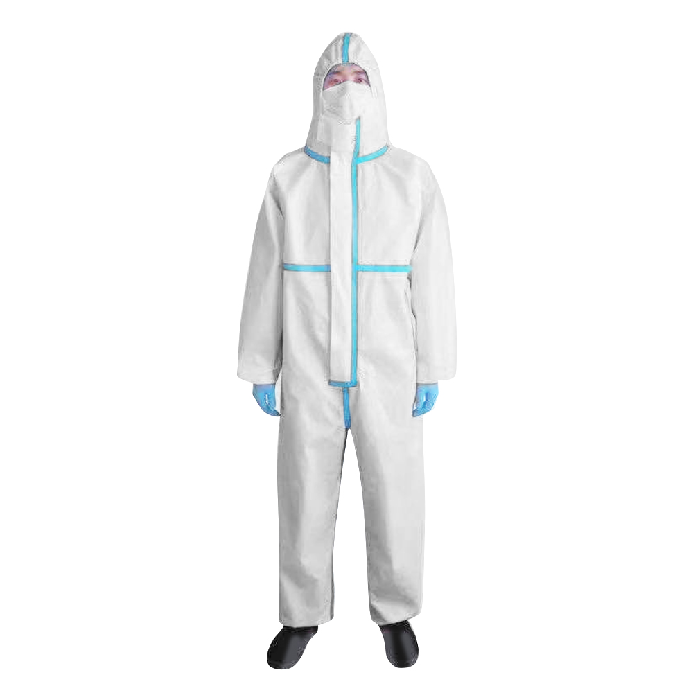 Breathable and Disposable Medical Isolation Gown and Hooded Medical Protective Clothing