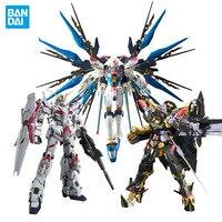 Original Bandai action figure Gundam Model Assembled RG Strike Free Golden Red Heresy Cow Up to Angel Sharjah Gundam gift