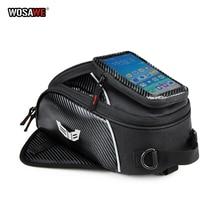 WOSAWE 8L Motorcycle Mobile Phone Navigation Tank Bag Multifunctional Oil Reservoir Package Motocross Tank Bag