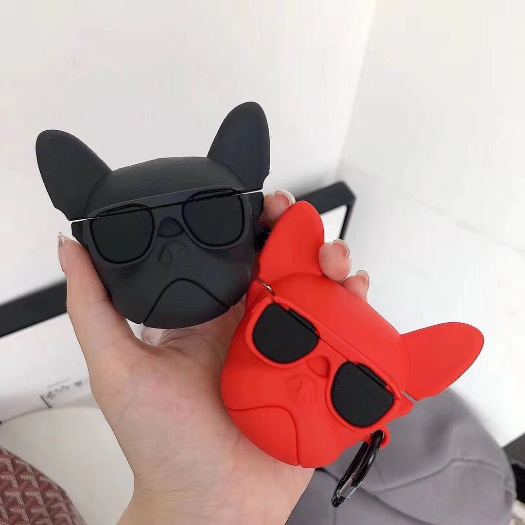 For Airpod Case Cute Dog Heandphone Cover For Airpods Earphone Case Silicone Charing Box Cover Headset Earbuds Case For Earpods