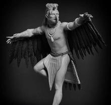 1/24 75mm starożytny wojownik człowiek stojak tancerz żywica model figurki zestawy miniaturowe gk Unassembly niepomalowane