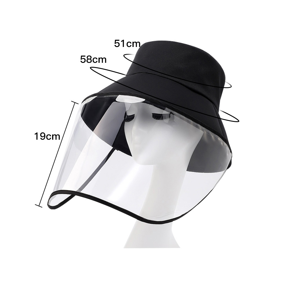 Image 3 - 1PCS Face Protection Masks Hat Helmet Isolation Corona Respirator  Anti Virus Spittle Surgical Safety Shield work with KF94 N95Braces