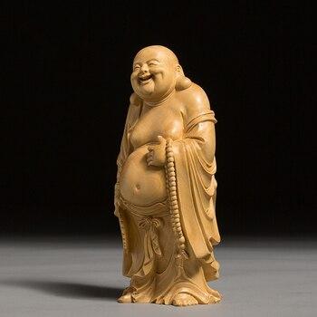 statue-en-bois-bouddha-rieur-budai