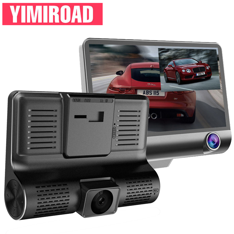 "YIMIROAD B8 Car Video Recorder Auto Vehicle Dash Cam Front Inside Camera For 4"" Parking Monitor Mini Dashcam HD 1080P Car Dvrs"