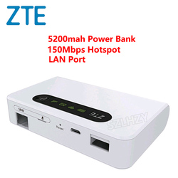 Odblokowany ZTE MF903 4G LTE kieszonkowy Router WiFi banku mocy 5200 mah z portu Lan 4G Router rj45 mifi bezprzewodowy Modem Mini Hotspot|Rutery 3G/4G|Komputer i biuro -