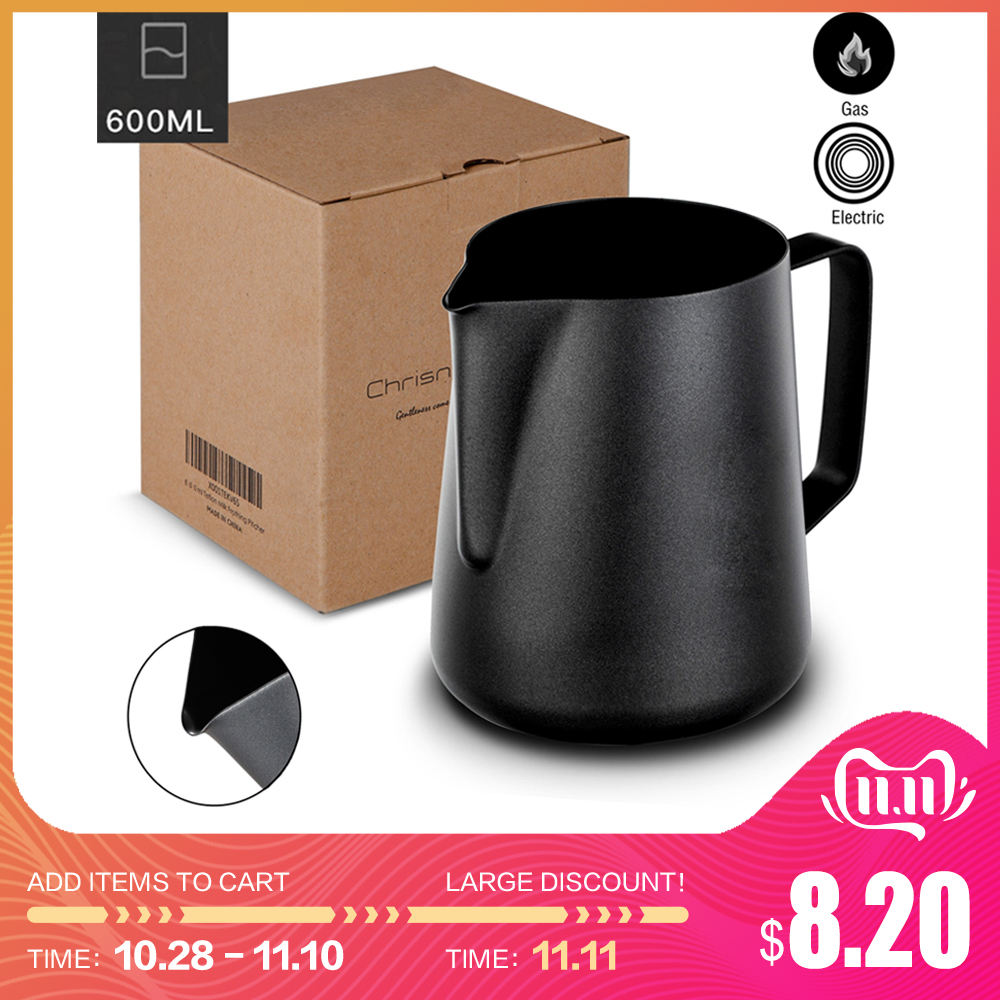 Non Stick Teflon Stainless Steel Milk Frothing Pitcher Espresso Coffee Barista Craft Latte Cappuccino Cream Frothing Jug Pitcher