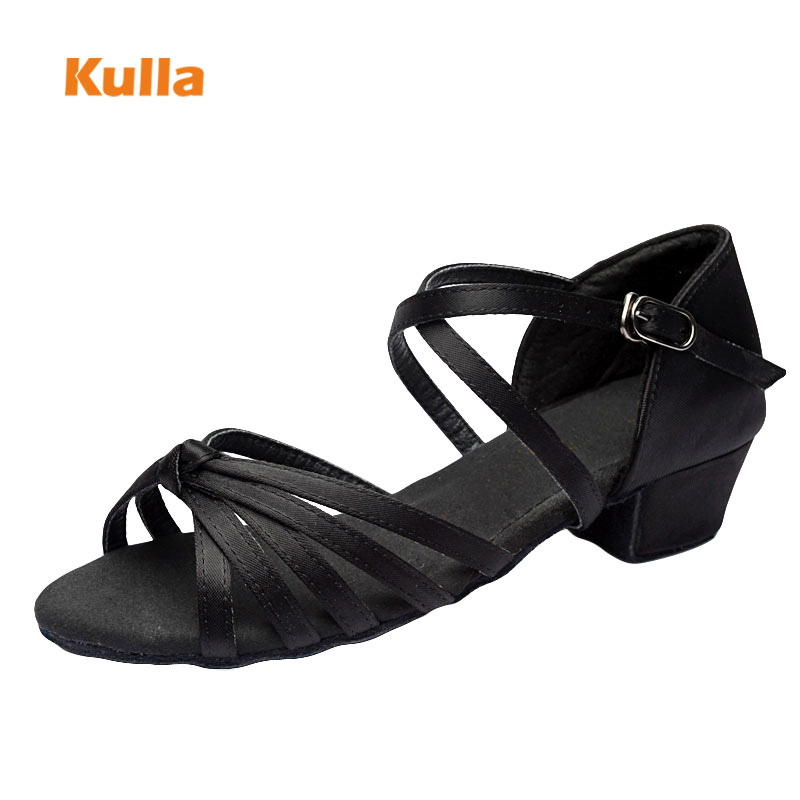 Brand Children Latin Dance Shoes Ballroom Salsa Tango Low Heels Dancing For Kids Girls Shoe Zapatos De Baile Latino Mujer L36