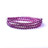 Fine Purple Red Garnet Natural Stone Bracelets Women Stone Round Beads Lucky for Women Friendship Bracelets Wristband Jewelry