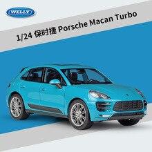 WELLY 1:24 Diecast Auto Metall Porsche Macan Cayenne Turbo Spielzeug Fahrzeuge SUV Legierung Modell Auto Spielzeug Auto Für Kinder Geschenk sammlung