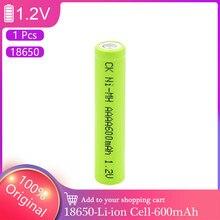 Batterie Rechargeable 1.2V, AAA 600mh, MN2500, LR61, 25A-U2, pour torche, horloge, jouets, lecteur MP3, remplace la batterie Ni-Mh