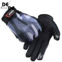 2019 Men Full Finger Touch Screen Gloves Print Camo Non-slip Fitness Wrist Outdoor Sports Luvas Mittens R016