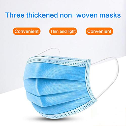 50Pcs Disposable Mask Nonwove 3 Layer Ply Filter Mouth Face Mask Dust Meltblown Mouth Masks 50 Pcs