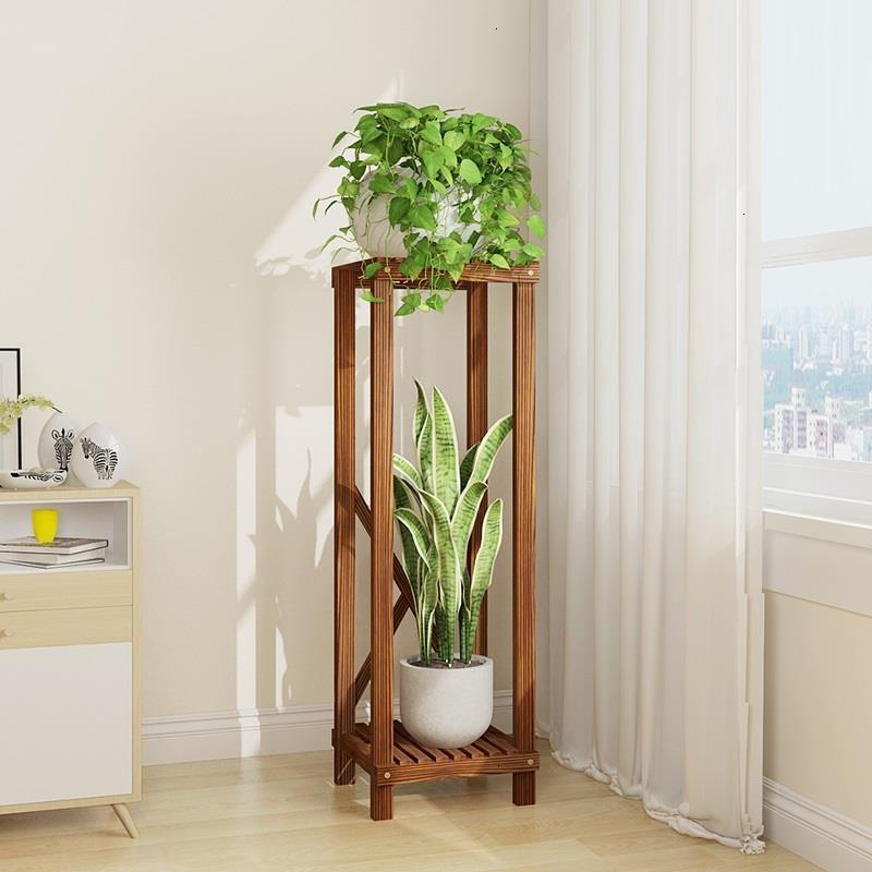 Table Etagere Plante Pot Balkon Wood Estanteria Stand Indoor Repisa Para Plantas Balcony Dekoration Rack Flower Plant Shelf