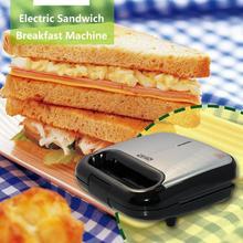 750 Вт бытовая электрическая Бутербродница Автоматическая вафельница для завтрака кухонный инструмент машина для готовка хлеба 220-240 В