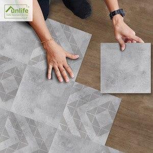 Наклейки на пол для ванной Funlife, серые, цементные, водонепроницаемые, Нескользящие, современные, для домашнего декора, самоклеящиеся, для кух...