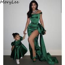 Green Evening Dresses vestidos de fiesta de noche Scoop Slee