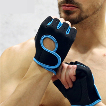 Skanguke 1 Pair Silicone Gym Cycling Gloves Half Finger Men Women  Weight Lifting Breathable Anti-Slip Fitness Sports Gloves high quality sports gym gloves wrist weights fitness men gloves half finger breathable anti skid silica women gloves