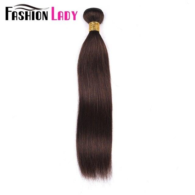 Tissage en lot brésilien naturel pré coloré NoRemy, mèches de cheveux lisses, brun foncé, 2 #, 1/3/4 lots par pièce