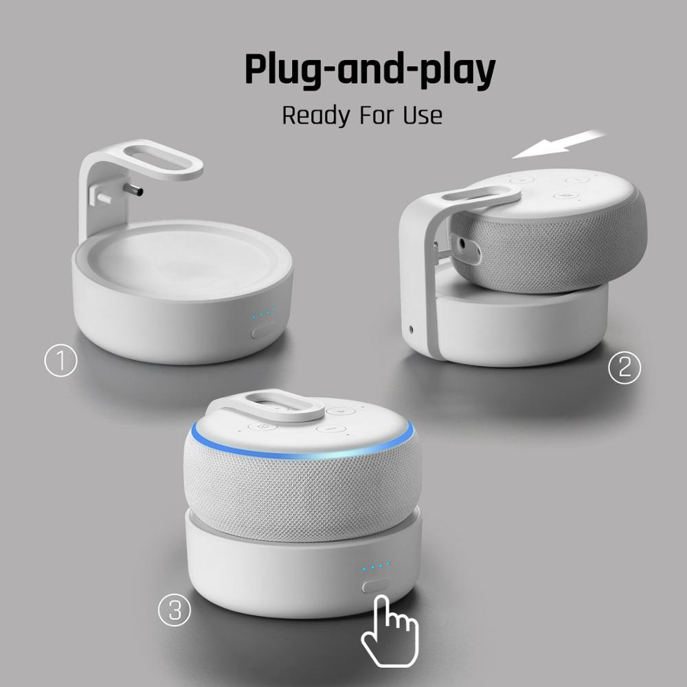 2020 Version GGMM D3+ Battery Base 10000mAh Charging Station For Amazon Echo Dot 3rd Gen Power Bank For Smart Speaker 16H Play 5