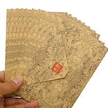 Envelope Wedding-Invitation Business-Card-Style Vintage Kraft Wood Pak of High-Quality