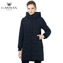 Gasman 2019 casaco longo para baixo casaco de inverno das mulheres com capuz quente casaco parka alta qualidade feminino novo inverno à prova vento jaqueta 1820