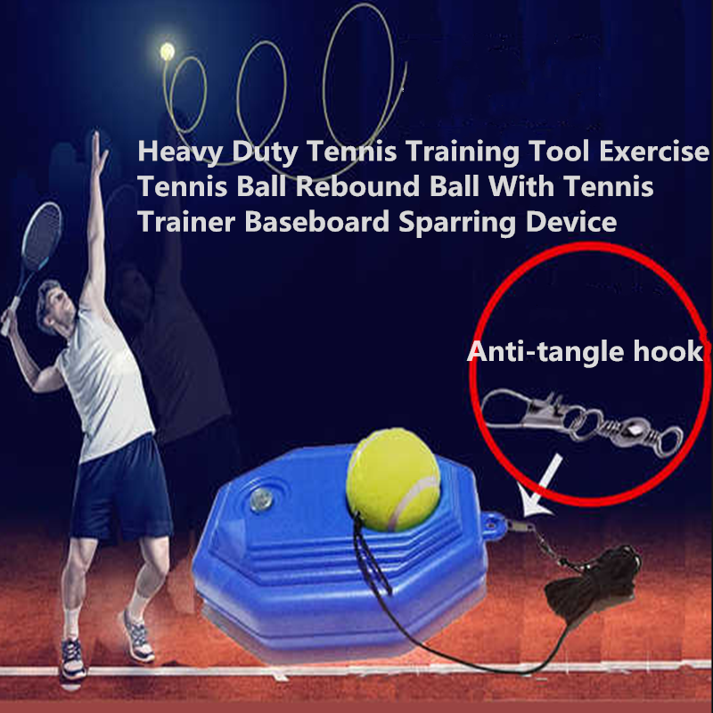 Heavy Duty Tennis Training Tool Exercise Tennis Ball Rebound Ball With Tennis Trainer Baseboard Sparring Device