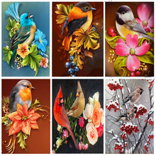 Full Drill Round 5D Diamond Painting Parrot Resin Crystal Diamond Embroidery Cross Stitch Animal Diamond Mosaic home Decor gifts full drill round 5d diy diamond painting birds resin crystal embroidery cross stitch animal diamond mosaic art home decor gifts
