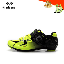 цена на Tiebao Road cycling shoes zapatillas ciclismo breathable bicycle sneakers for men women self-locking Wear-resistant road shoes