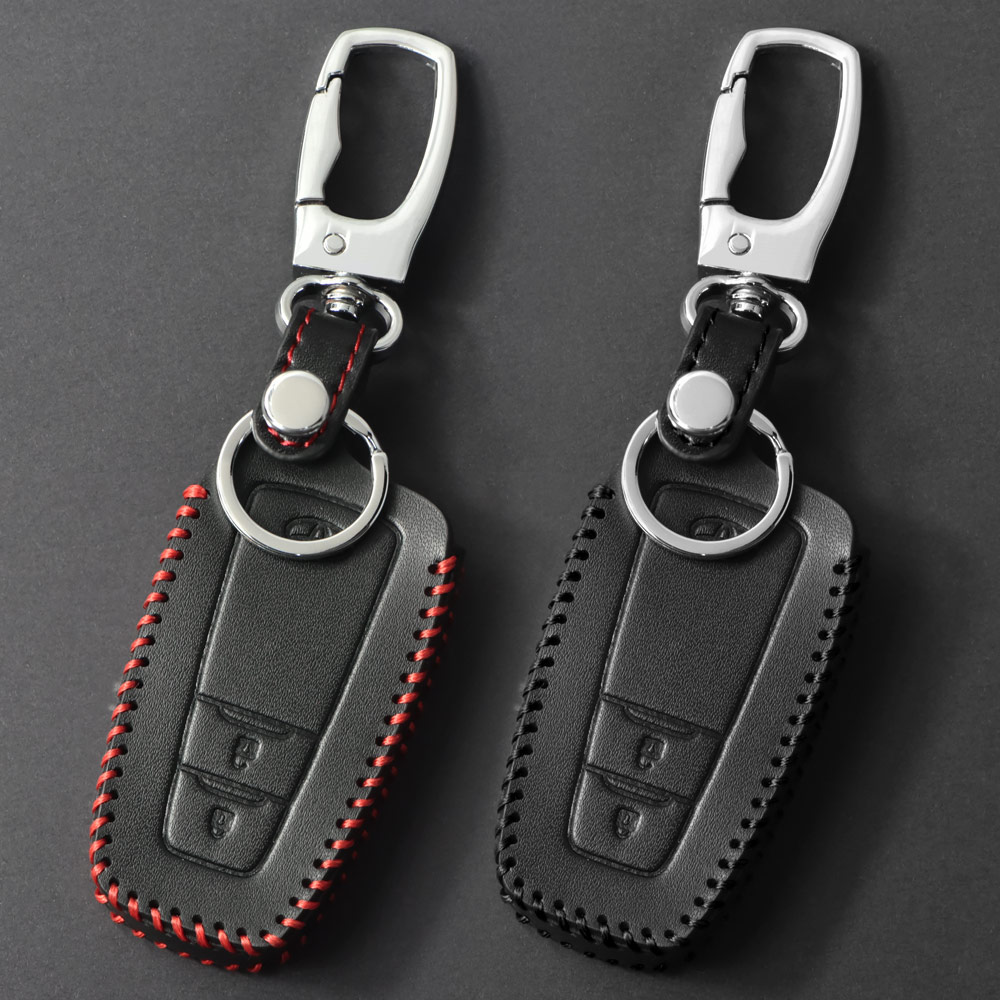 For <font><b>Toyota</b></font> Camry <font><b>Corolla</b></font> C-HR CHR Prado <font><b>2018</b></font> Leather Car Aluminium Alloy <font><b>Key</b></font> Holder Cover <font><b>Case</b></font> 2/3 Buttons <font><b>Key</b></font> Protection Shell image